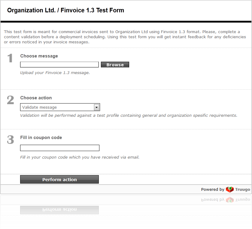 Test form screenshot